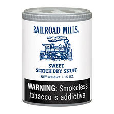 Railroad Mills Snuff - 12/1.5 oz. cans
