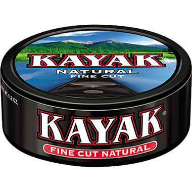Kayak Fine Cut Natural Moist Tobacco (10 cans)