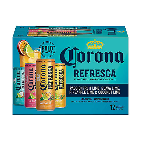 Corona Refresca Variety Pack Spiked Tropical Cocktail (12 fl. oz. can, 12 pk.)