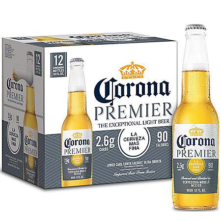 Corona Premier Mexican Lager Light Beer (12 fl. oz. bottle, (12 pk.)