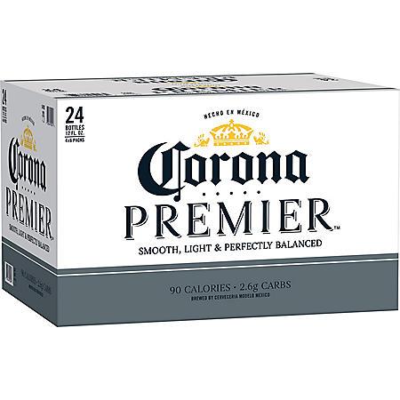 Corona Premier Mexican Lager Light Beer (12 fl. oz. bottle, 24 pk.)