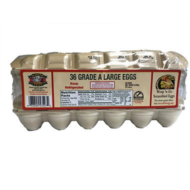 Sauder's White Large Eggs - 18 pk. - 2 ct.