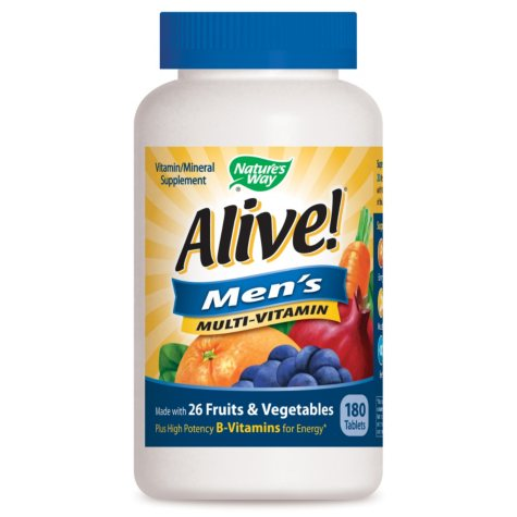 Alive! Men's Energy Multivitamin - 180 ct.
