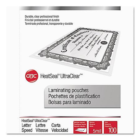Swingline GBC - Laminating Pouches, 5 mil, 11 1/2 x 9 -  100/Box