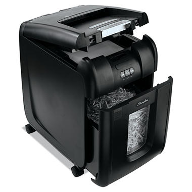 Swingline - Stack-and-Shred 200X Hands Free Shredder, Super Cross-Cut, 200 Sheets -  1-5 Users