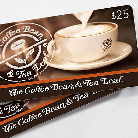 The Coffee Bean & Tea Leaf® $50 Value Gift Cards - 2 x $25