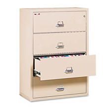 FireKing - Lateral File Cabinet, 4-Drawer, Letter/Legal, 37-