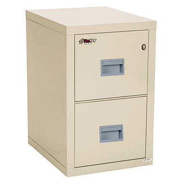 FireKing Turtle 2-Drawer Compact File Cabinet, Parchment