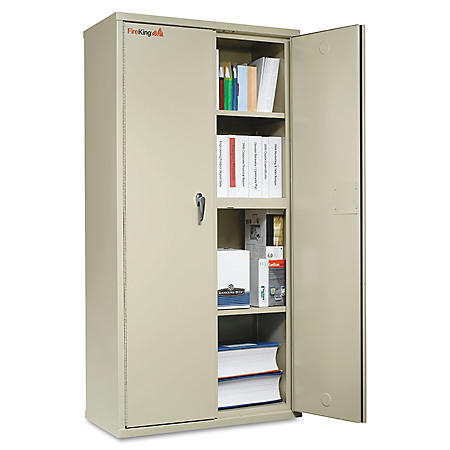"FireKing 36"" Wide Storage Cabinet, Parchment"
