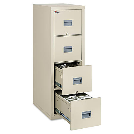 FireKing 4-Drawer Patriot Insulated Fire File Cabinet, Select Color