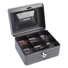 "FireKing - Hercules Cash Box, Keylock, Coin and Stamp, 6"" x 4 5/8"" x 3"" -  Charcoal Gray"