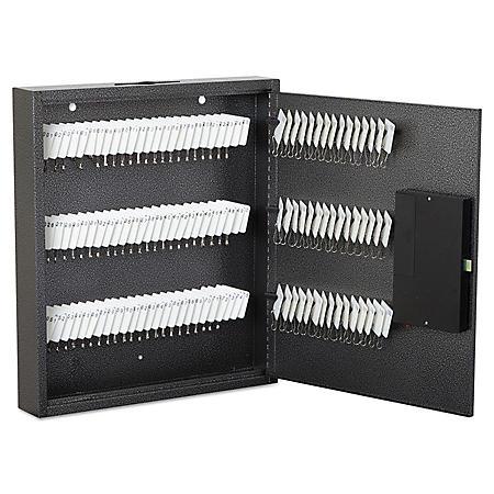FireKing Hercules Steel 120-Key E-Lock Cabinet,  Silver Vein