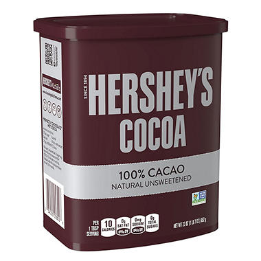 HERSHEY'S Natural Unsweetened Cocoa (23 oz., 12 ct.)