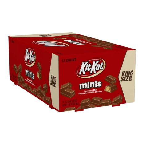 KIT KAT® King Size Minis Crisp Wafers in Milk Chocolate (2.2 oz., 12 ct.)