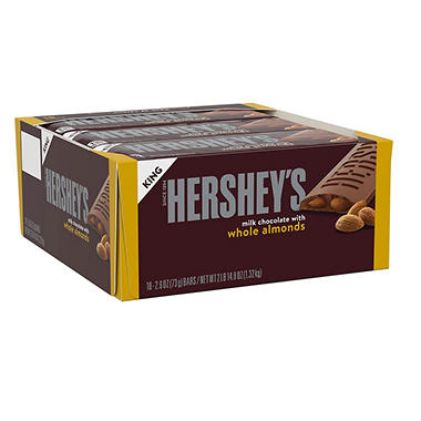 Hershey's King Size Milk Chocolate with Almonds Bar (2.6 oz., 18 ct.)