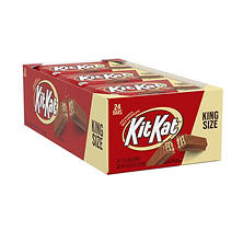 Kit Kat Milk Chocolate Bar, King Size (3 oz. bar, 24 ct.)