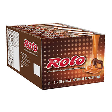 Rolo Caramels in Chocolate,1.7 oz. rolls (36 ct.)