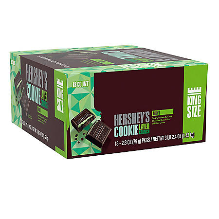 Hershey's Cookie Layer Crunch King Size Bar, Mint (2.8 oz., 18 ct.)