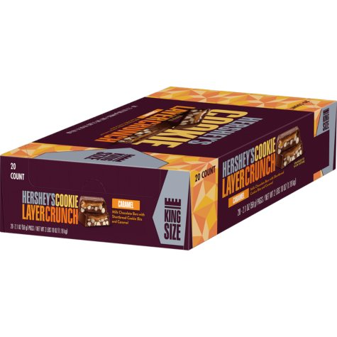 HERSHEY'S COOKIE LAYER CRUNCH King Size Bar, Caramel (2.1 oz., 20 ct.)
