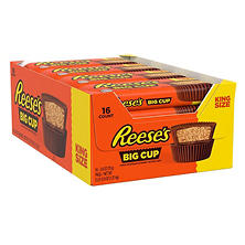 REESE'S King Size Big Cup Peanut Butter Cups (2.8 oz., 16 ct.)