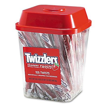Twizzlers Strawberry Twizzlers Licorice (2 lb. tub)