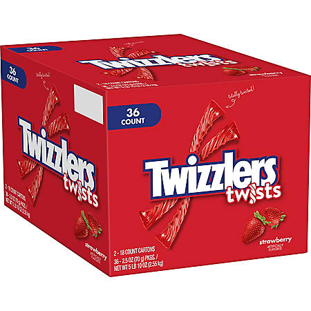 Twizzlers Strawberry Twists Candy (2.5 oz., 36 ct.)