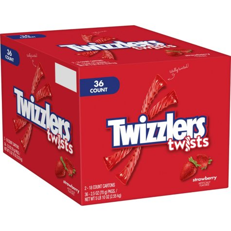 Twizzlers Strawberry Twists (2.5 oz., 36 ct.)