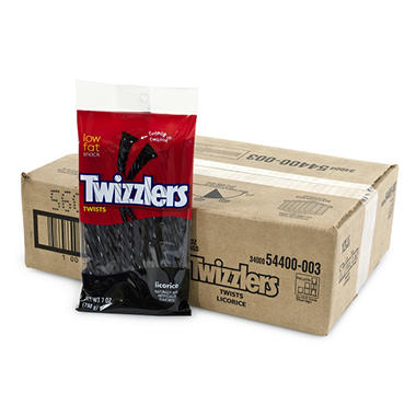 Twizzlers Black Licorice Twist 7oz. (12 ct.)