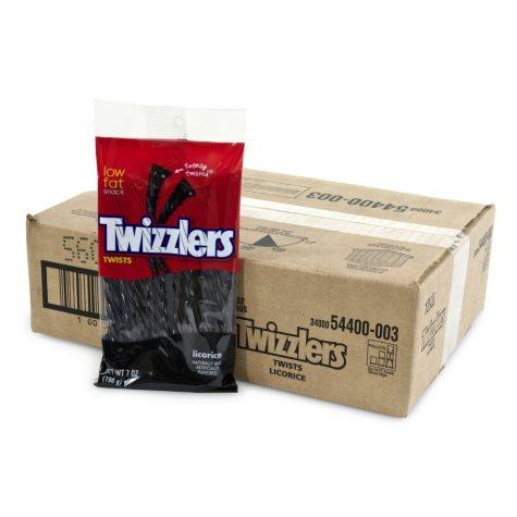 Twizzlers Black Licorice Twist 7oz. (12 ct.)