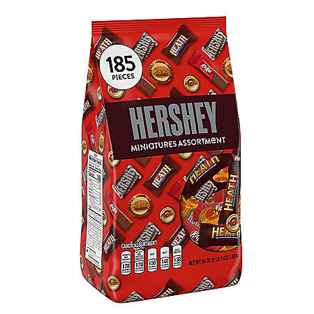 Hershey's Miniatures Assortment (55 oz., 185 ct.)