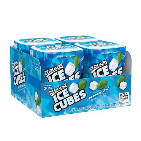 Ice Breakers Ice Cubes Gum Peppermint (40 ct., 4 pks.)