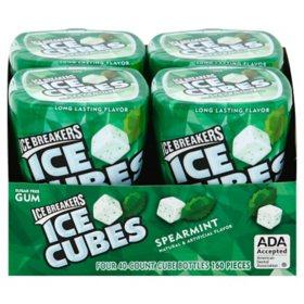Ice Breakers Ice Cubes Sugar Free Spearmint Gum (40 ct., 4 pks.)