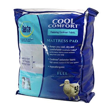Serta Cool Comfort Mattress Pad Full