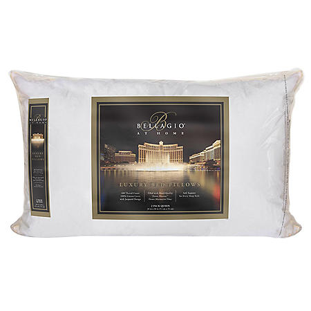 Bellagio 400-Thread-Count Pillow- 2 Pack (Assorted Sizes)