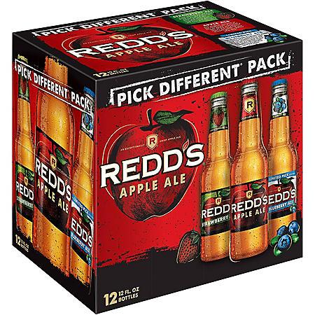 REDD'S  VARIETY 12 / 12 OZ BOTTLES