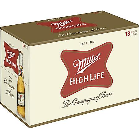 Miller High Life (12 fl. oz. bottle, 18 pk.)
