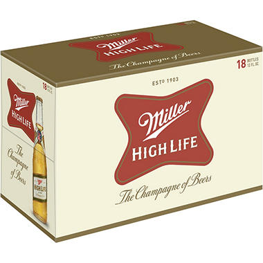 Miller High Life (12 fl. oz. bottle, 18 pk.)