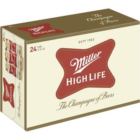 Miller High Life (12 fl. oz. can, 24 pk.)