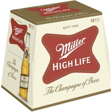 Miller High Life (12 fl. oz. bottle, 12 pk.)