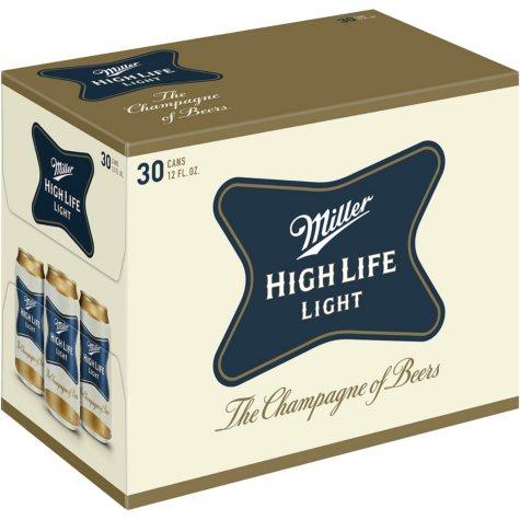 Miller High Life Light (12 fl. oz. can, 30 pk.)
