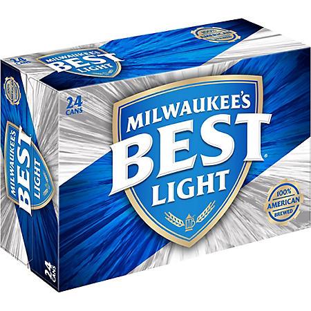 MILWAUKE BEST LIGHT 24 / 12 OZ CANS