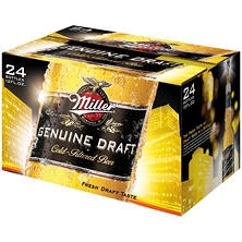 Miller Genuine Draft (12 fl. oz. bottles, 24 pk.)