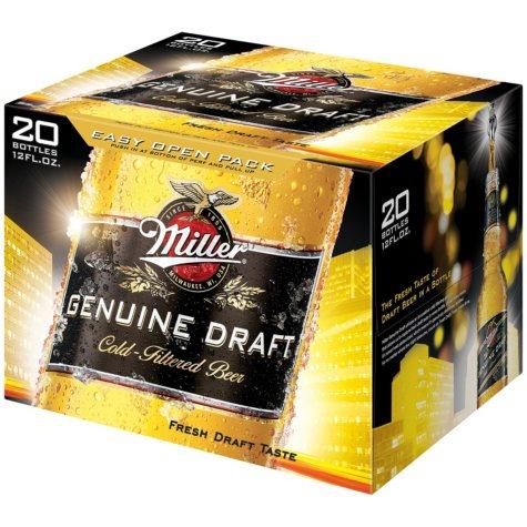 Miller Genuine Draft Beer (12 fl. oz. bottle, 20 pk.)