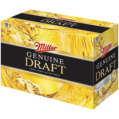 Miller Genuine Draft Beer (12 fl. oz. bottle, 18 pk.)