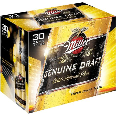 Miller Genuine Draft Beer (12 fl. oz. can, 30 pk.)