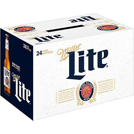 Miller Lite Lager Beer (12 fl. oz. bottle, 24 pk.)