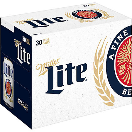 Compliance-Miller Lite Lager Beer (12 oz. can, 30 pk.)