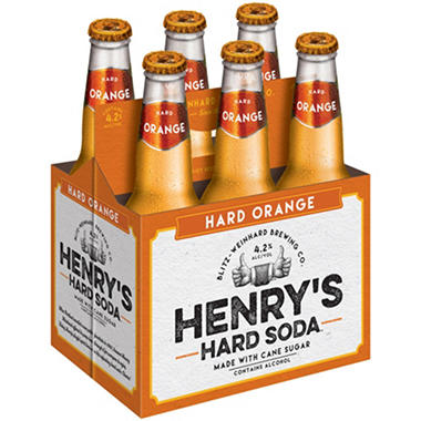 Henry's Hard Orange Soda (12 fl. oz. bottles, 6 pk.)