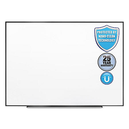 "Quartet Fusion Nano Clean Magnetic Whiteboard, 72"" x 48"", Select Frame Color"