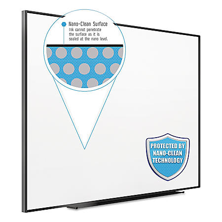 "Quartet Fusion Nano Clean Magnetic Whiteboard, 96"" x 48"", Select Frame Color"